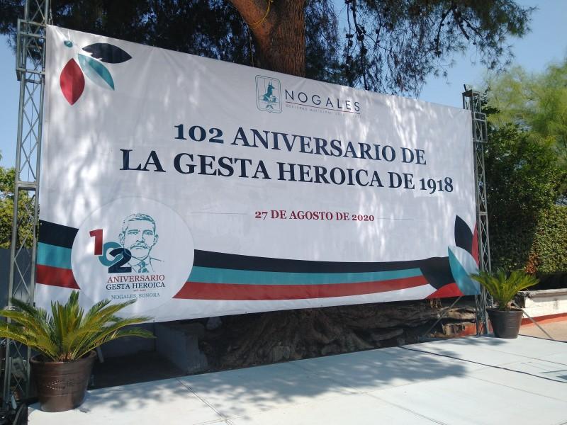 Conmemoran 102 aniversario de la Gesta Heroica de Nogales