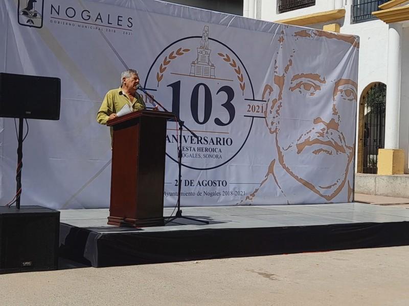 Conmemoran 103 aniversario de Gesta Heroica de Nogales