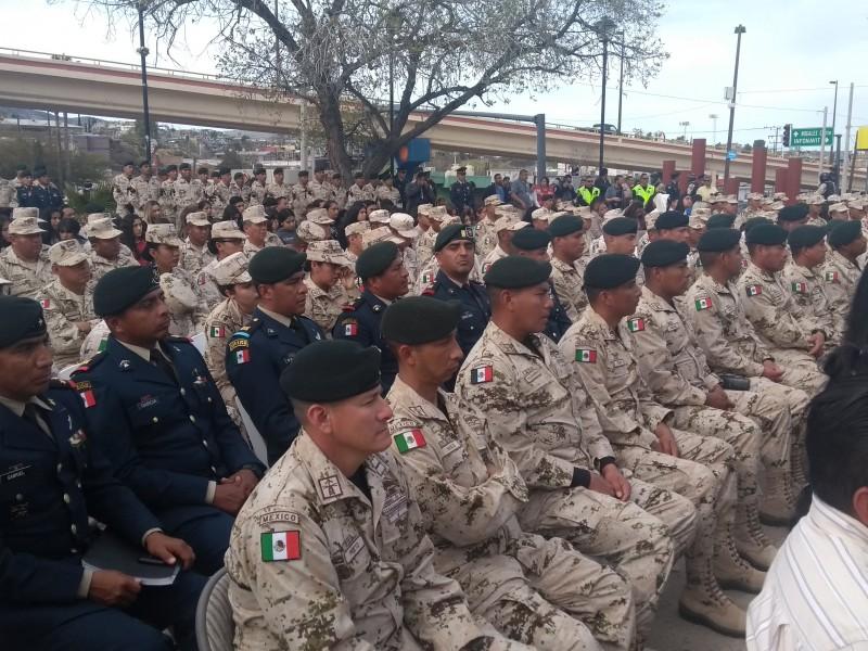 Conmemoran 107 aniversario del ejército mexicano