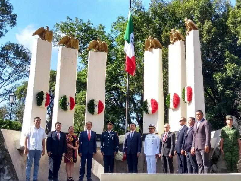 Conmemoran 171 aniversario de la batalla de Chapultepec