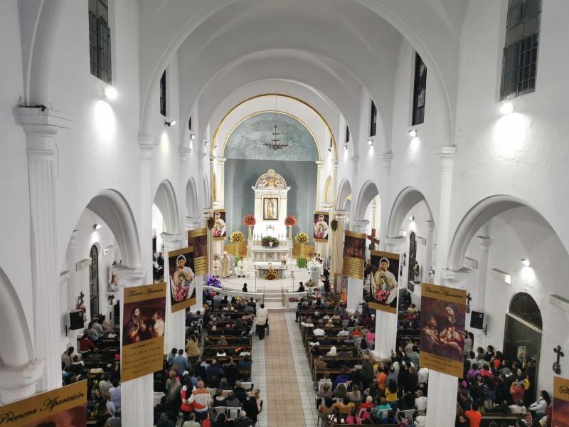 Conmemoran 488 aniversario de la Virgen María