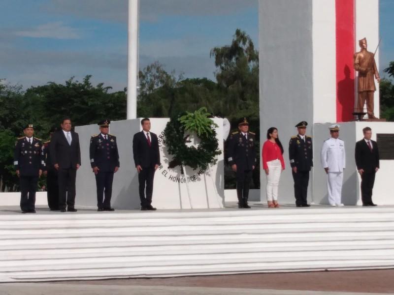 Conmemoran a los niños Héroes de Chapultepec