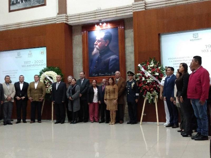 Conmemoran autoridades nayaritas promulgación de la Constitución