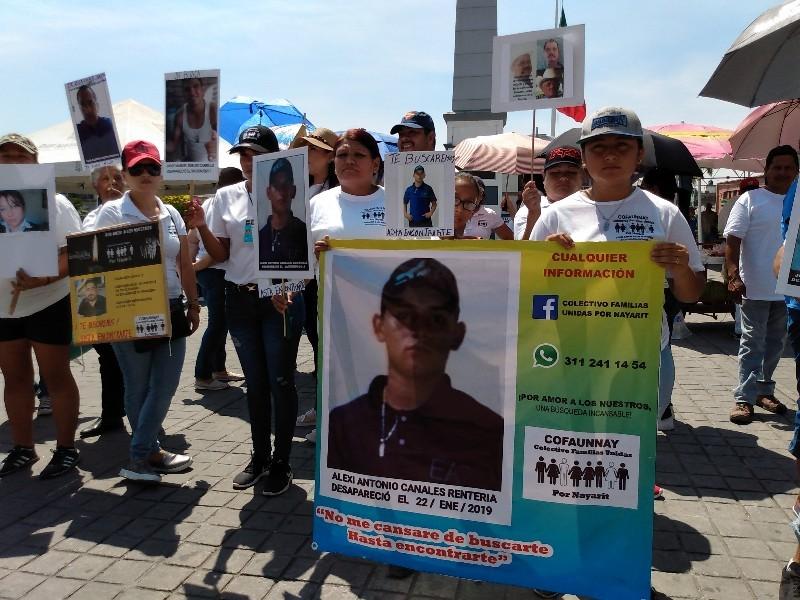Conmemoran colectivos mes con mayor número de desapariciones