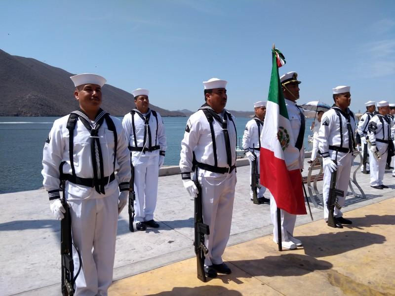 Conmemoran Día de la Marina Nacional en Topolobampo