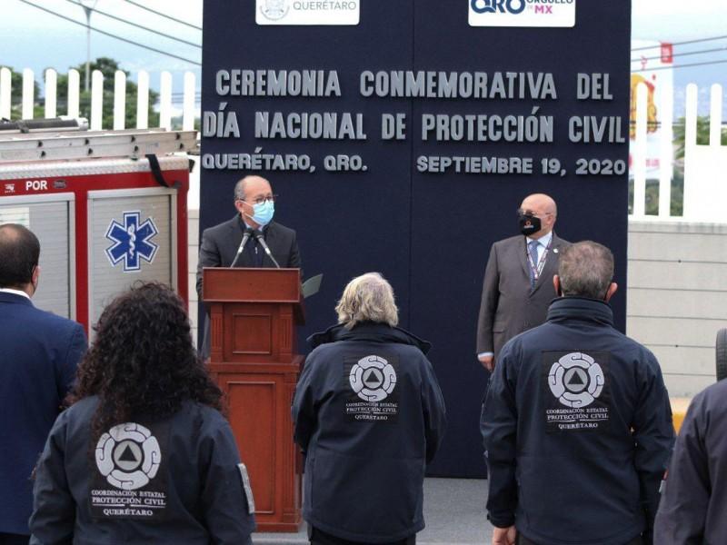 Conmemoran Día de la Protección Civil