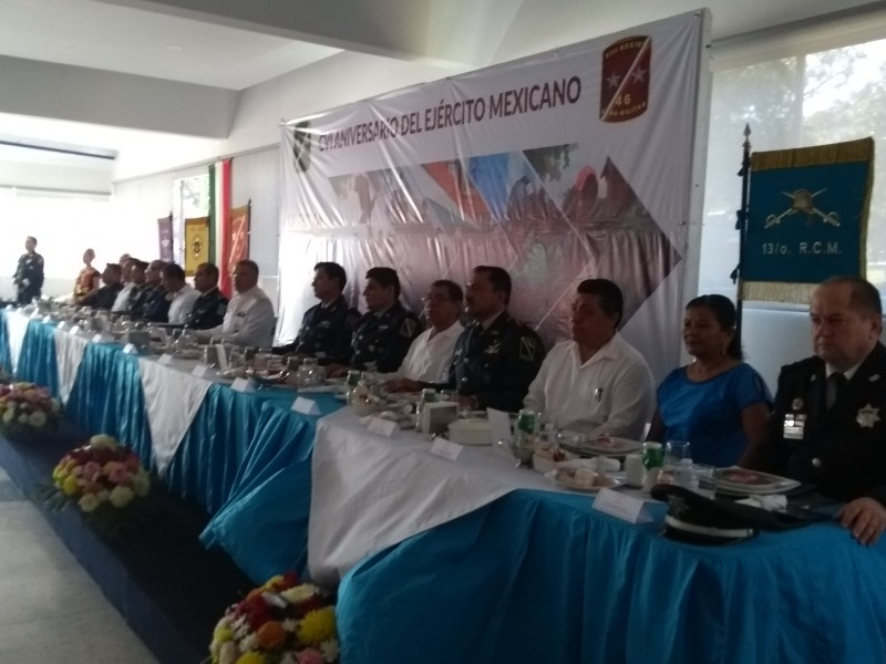 Conmemoran el 106 aniversario del Ejército Mexicano