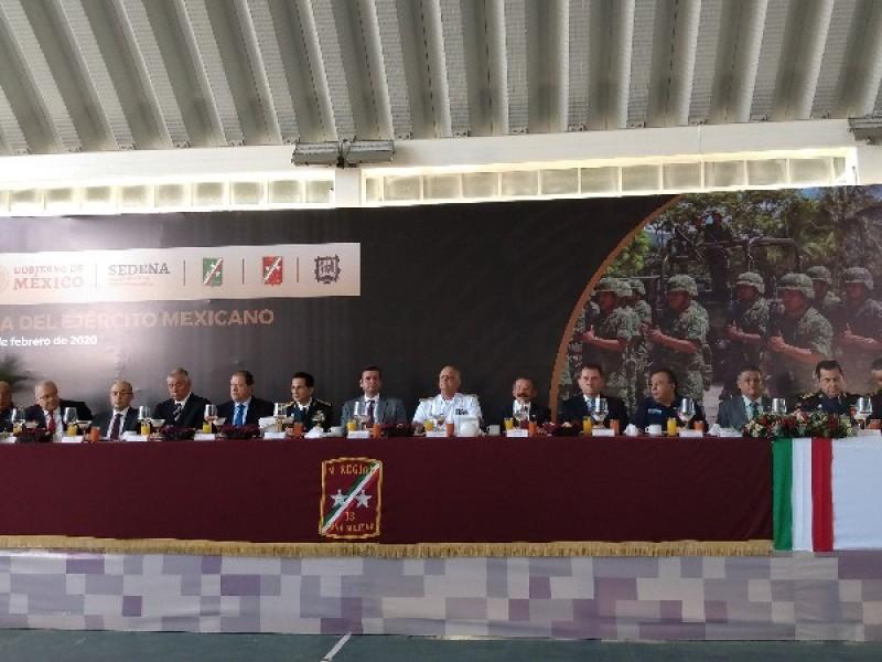 Conmemoran el 107 aniversario del ejército Mexicano