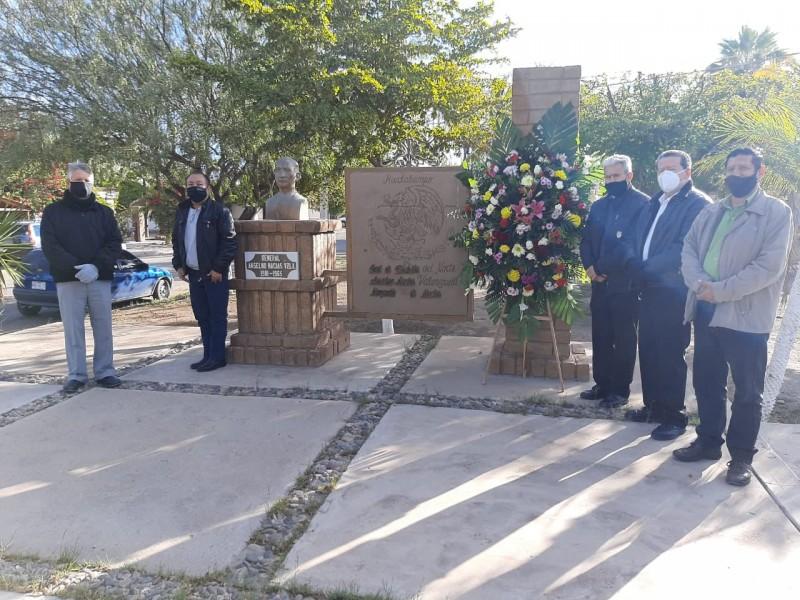 Conmemoran el 56 aniversario luctuoso del General Anselmo Macías Valenzuela.