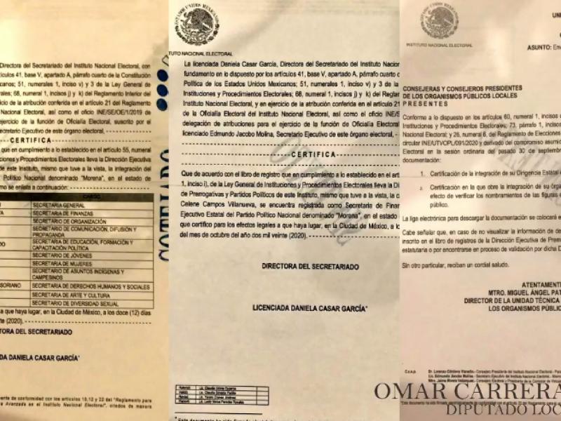 Consejeros de Morena exhiben irregularidades dentro del INE