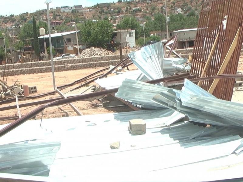 Construcción en predio del represo era asentamiento ilegal
