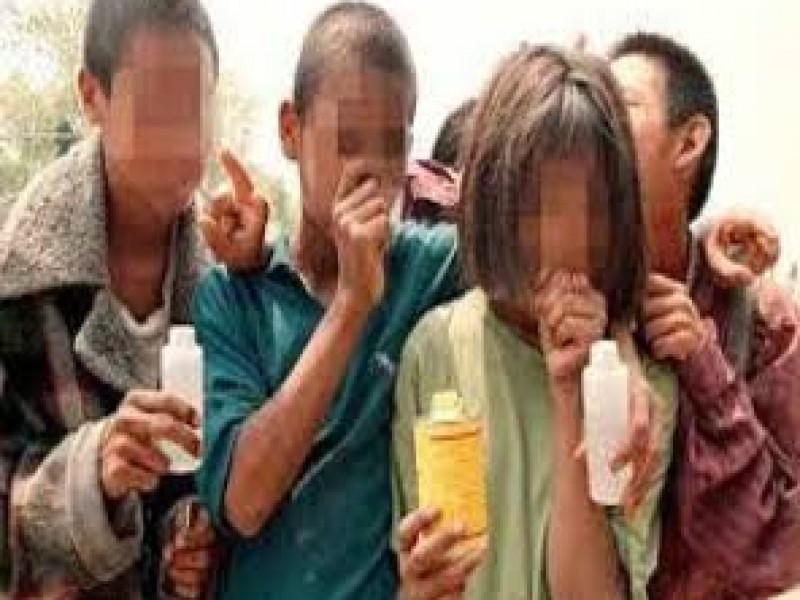 Consumo de drogas inicia en niños menores de 14 años
