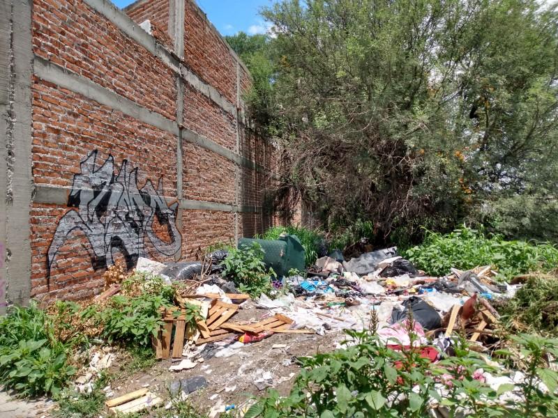 Contaminación se extiende por terrenos baldíos en La Moreña