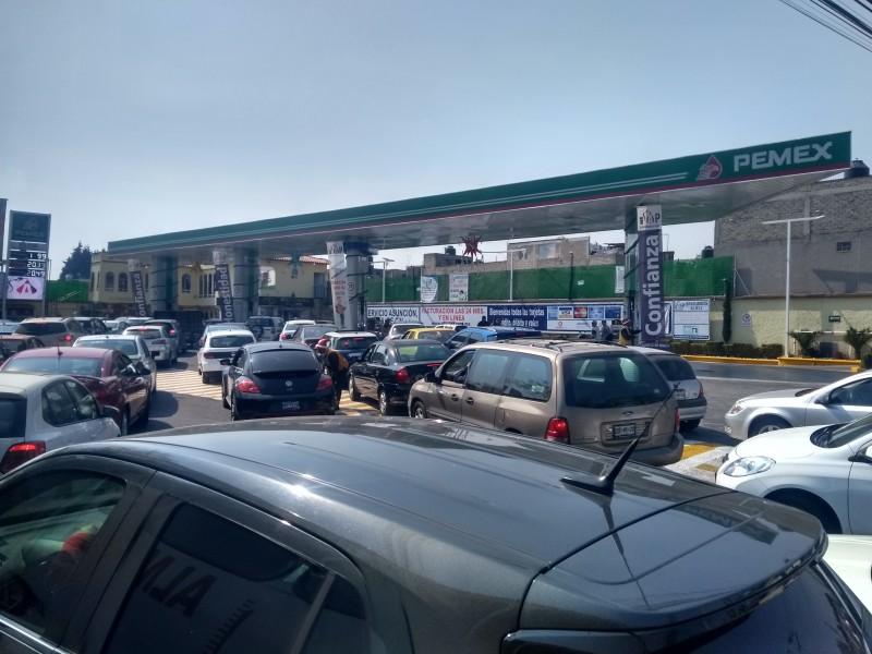 Contingencia en Toluca por falta de gasolina