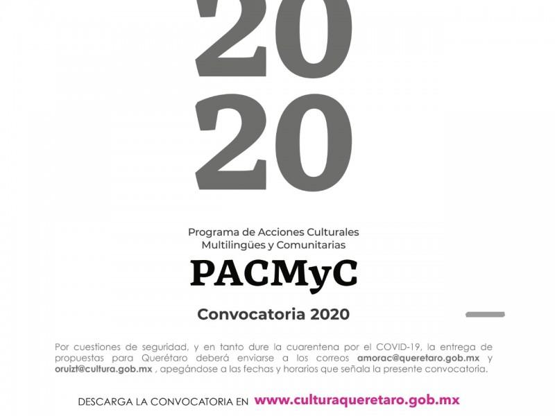 Continúa abierta convocatoria PACMyC 2020