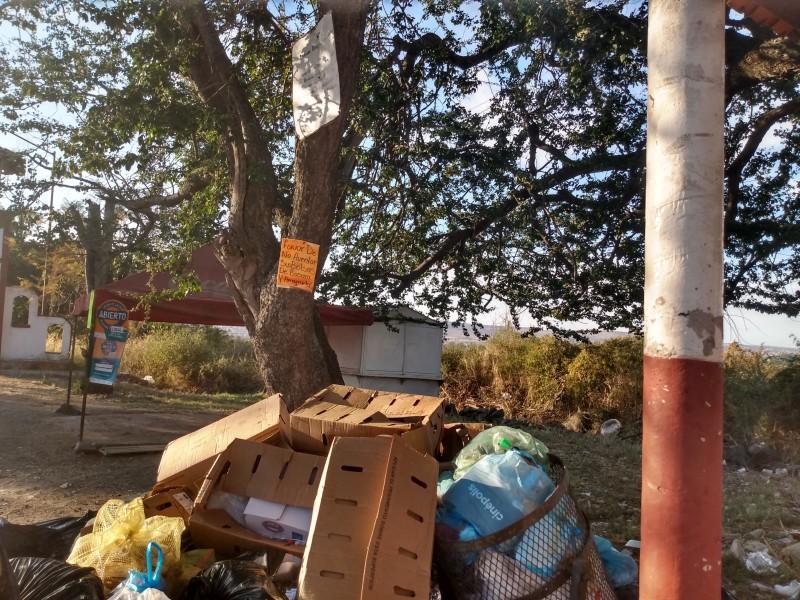 Continúa aglomeración de basura en Jiquilpan