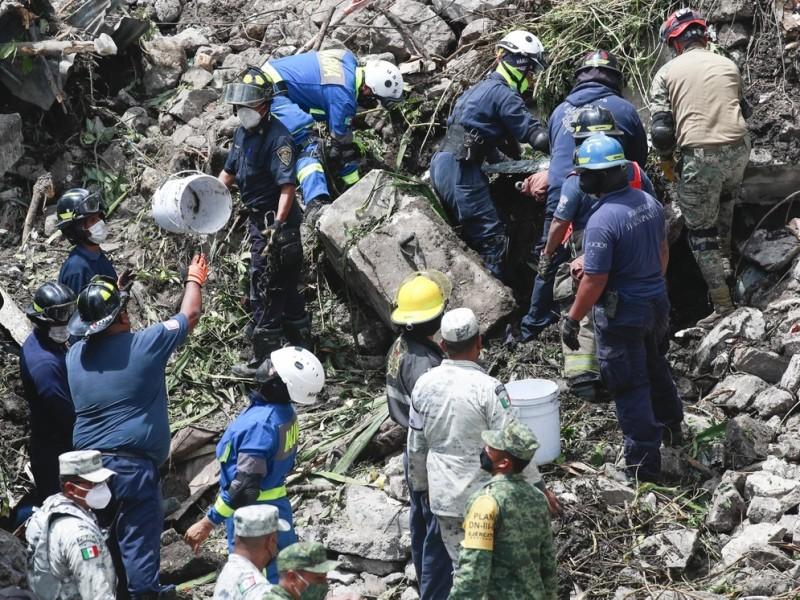 Continua búsqueda de victimas en el cerro del Chiquihuite