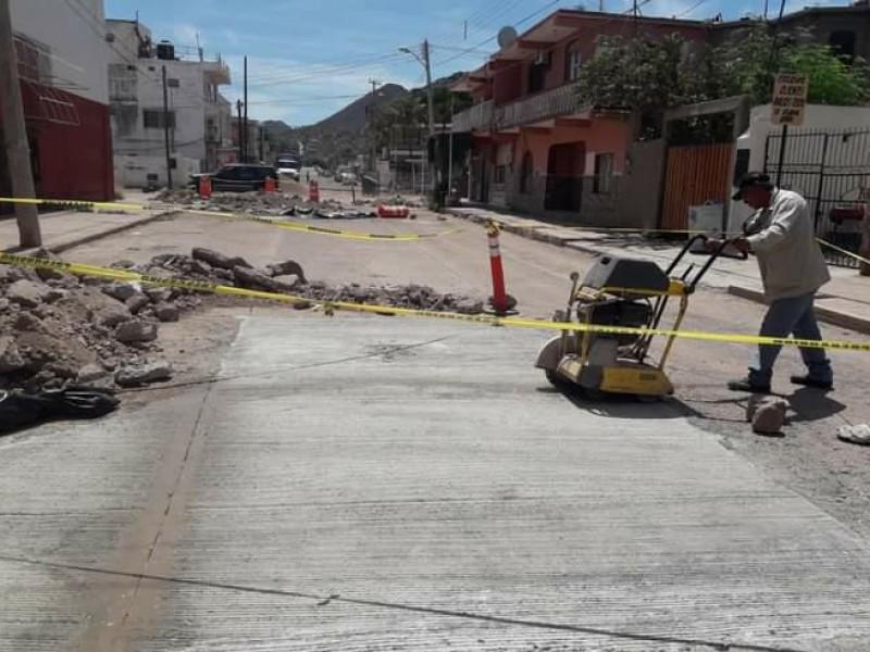 Continúa Infraestructura Urbana con obras de rehabilitación de vialidades