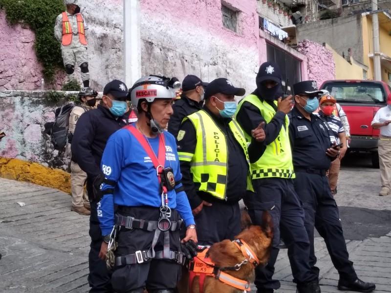 Continúa la búsqueda de personas desaparecidas tras derrumbe en Tlalnepantla