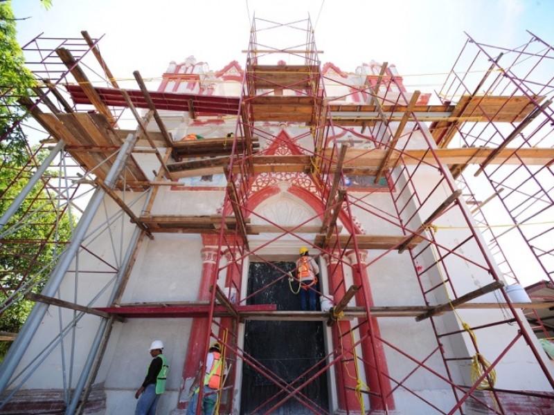 Continúa plan de restauración de bienes culturales tras terremoto