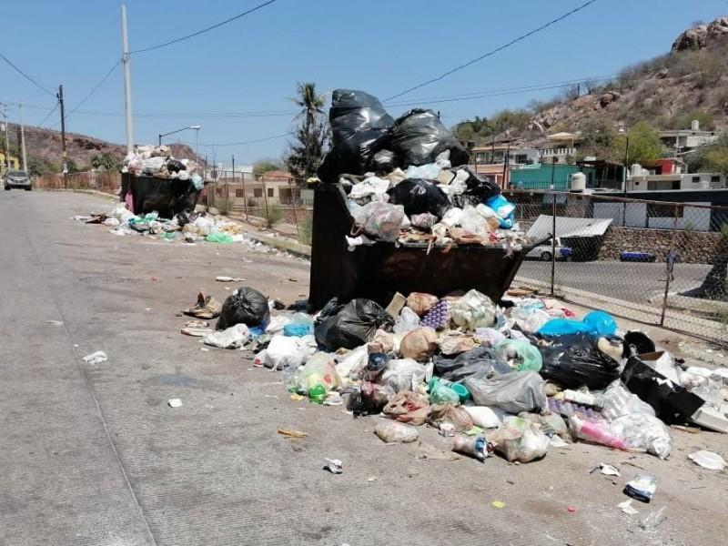 Continúa rezago en recolección de basura en Guaymas