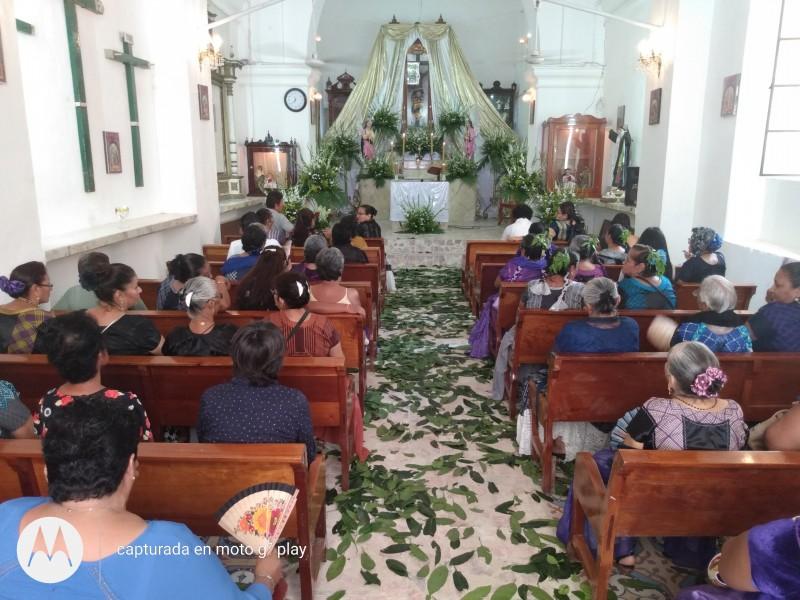 Continúan actividades de cuaresma, a pesar de alerta sanitaria: Tehuantepec
