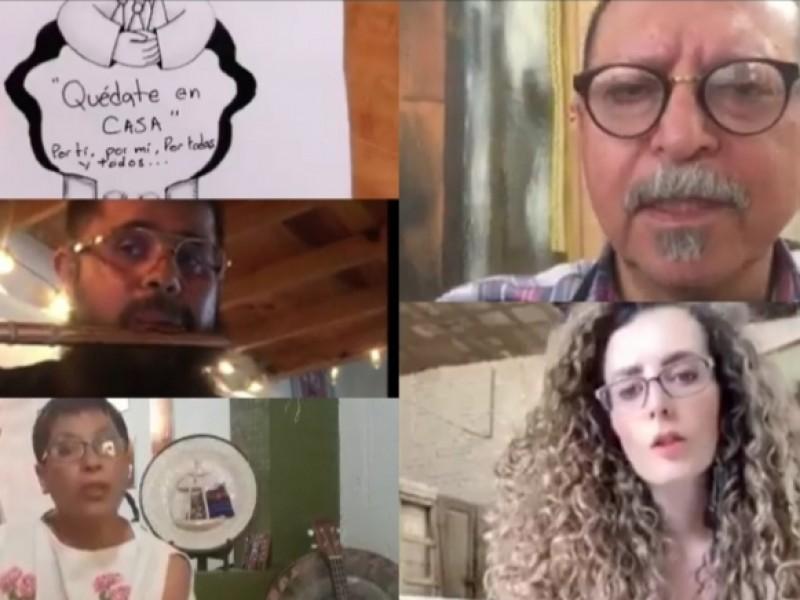 Continúan artistas zacatecanos labor cultural durante contingencia