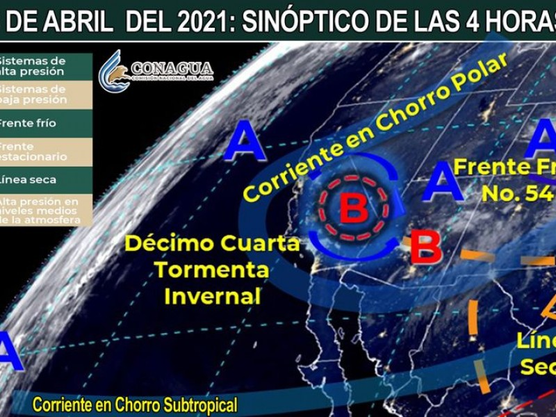 Continúan efectos de la tormenta invernal #14 en Sonora