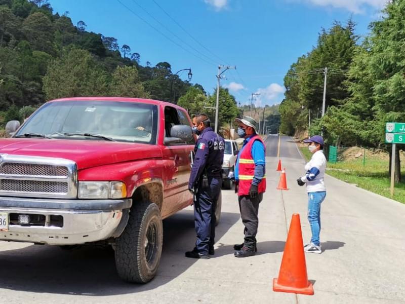 Continúan filtros sanitarios en San Joaquín