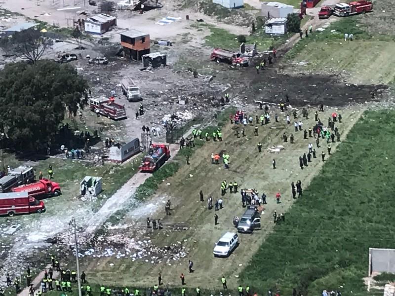 Continúan hospitalizados 38 por explosión en Tultepec