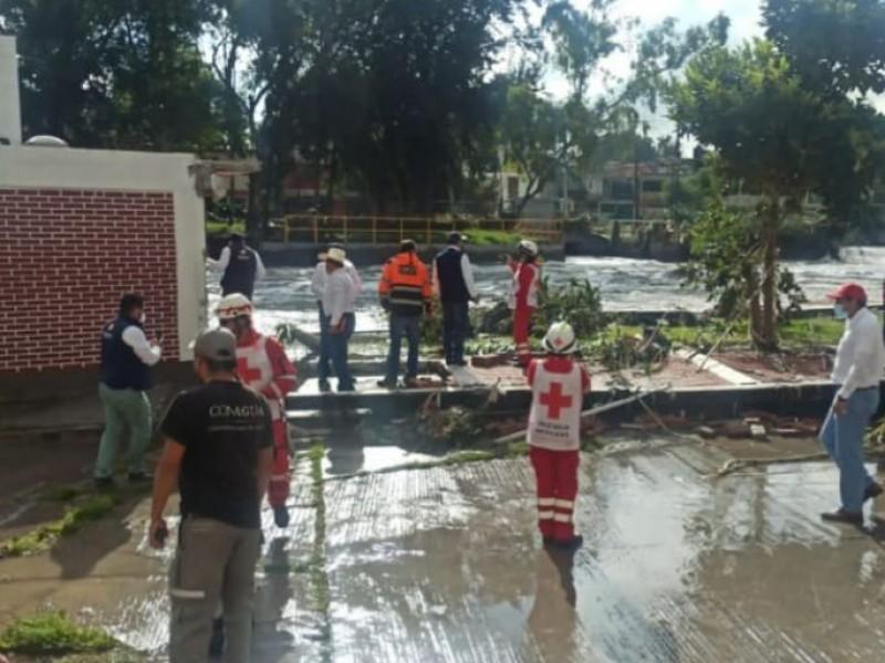 Continúan labores de limpieza en zonas afectadas de Tula