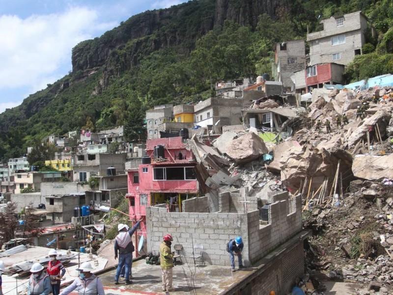 Continúan labores de rescate en el Cerro del Chiquihuite