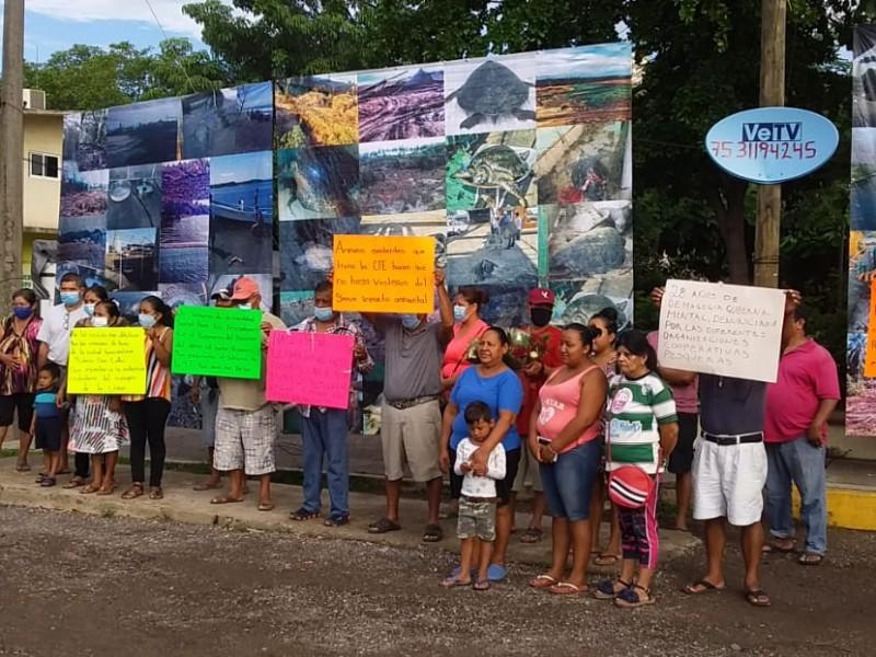 Continúan las protestas por la matanza de tortugas en Petacalco