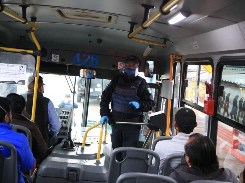 Continúan los operativos en transporte público