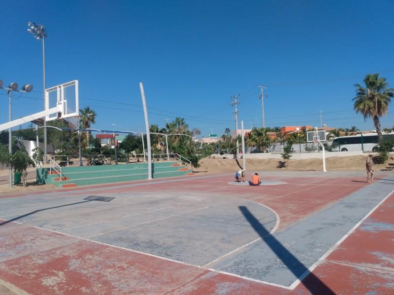 Continúa mantenimiento de espacios deportivos apesar de reducción en presupuesto