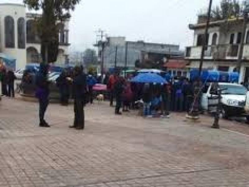 Continúan protestas por Copladem en Oxchuc