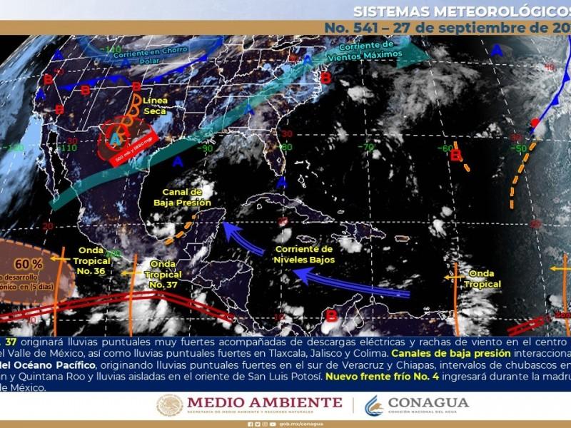 Continuarán las altas temperaturas con muy baja probabilidad de lluvias