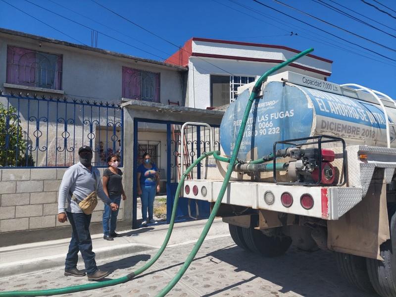 Continuarán recortes de agua; ciudadanos pueden solicitar pipas