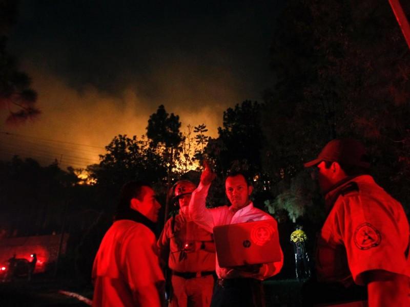 Controlado incendio en Pinar de la Venta