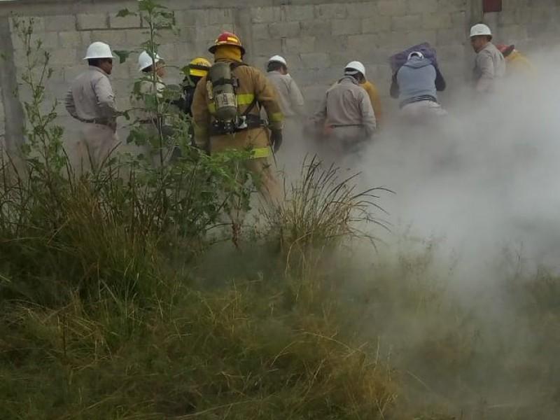 Controlan fuga de gas en Puebla
