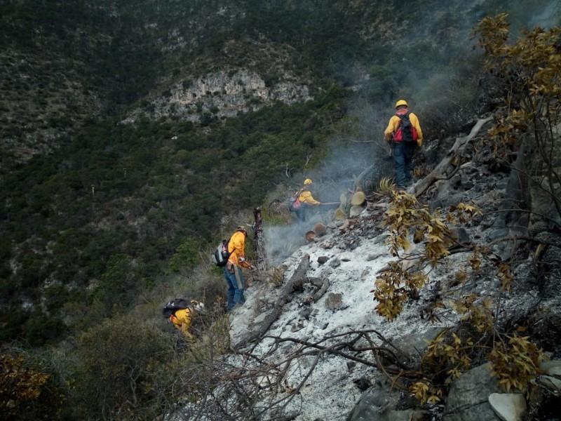 Controlan incendio de Arteaga en 80 %