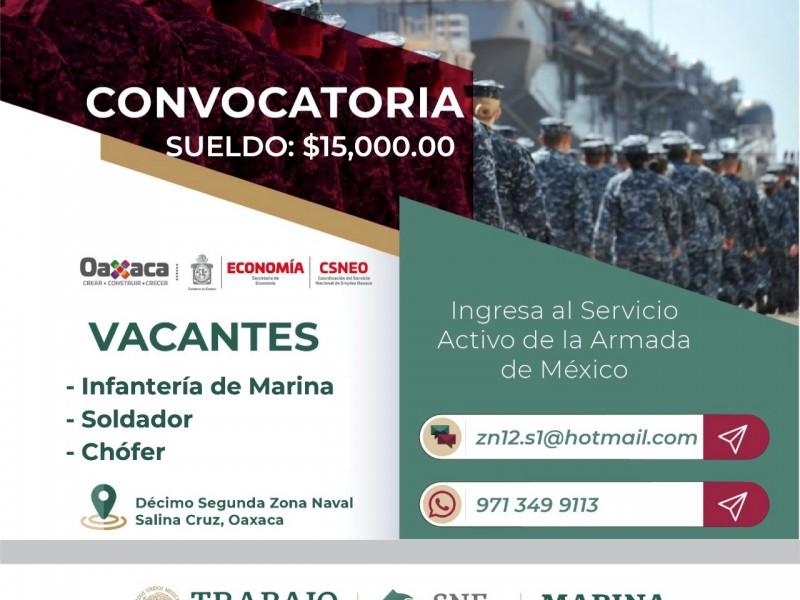 Convoca CSNEO vacantes en la Secretaría de Marina