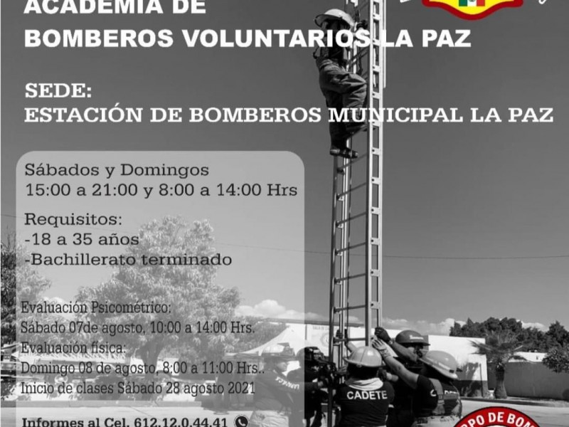 Convocan a integrarse al Heroico cuerpos de Bomberos La Paz