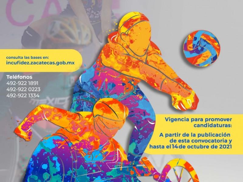 Convocan al Premio Estatal del Deporte Zacatecas 2021