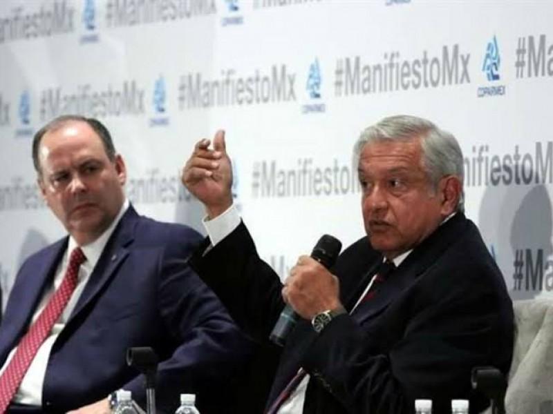 Coparmex y Canacintra en desacuerdo con AMLO