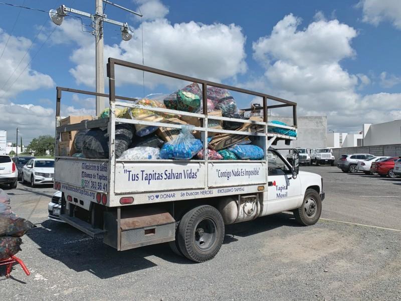 Corregidora ha entregado 8.6 toneladas de tapitas