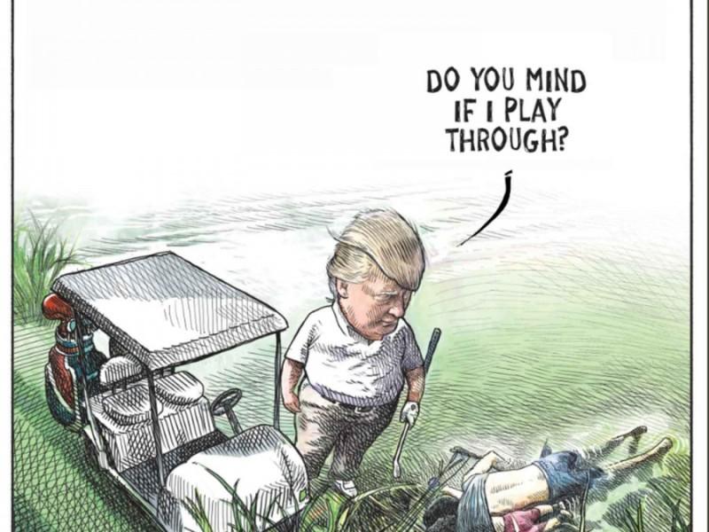 Corren a caricaturista por burlarse de Trump