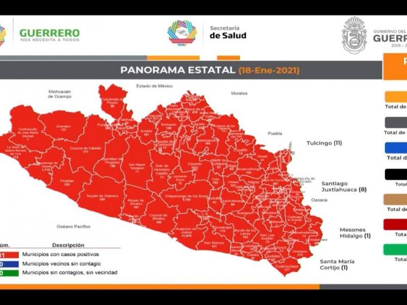 COVID-19 al alza en Guerrero; hay 28,257 contagios acumulados