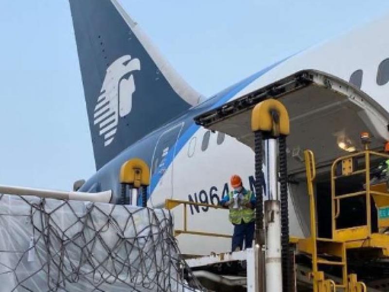 cOVID-19: Llegan a México 16 toneladas de insumos médicos