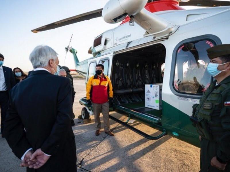COVID-19: Llegan 10 mil vacunas a Chile